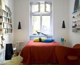 寝室,ベッドルーム,本棚,ソファ